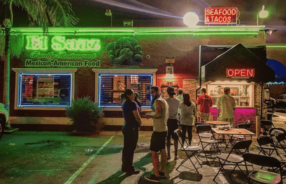 El Sauz, at the southeast corner of Anaheim and Walnut Avenue. Photo by Brian Addison.