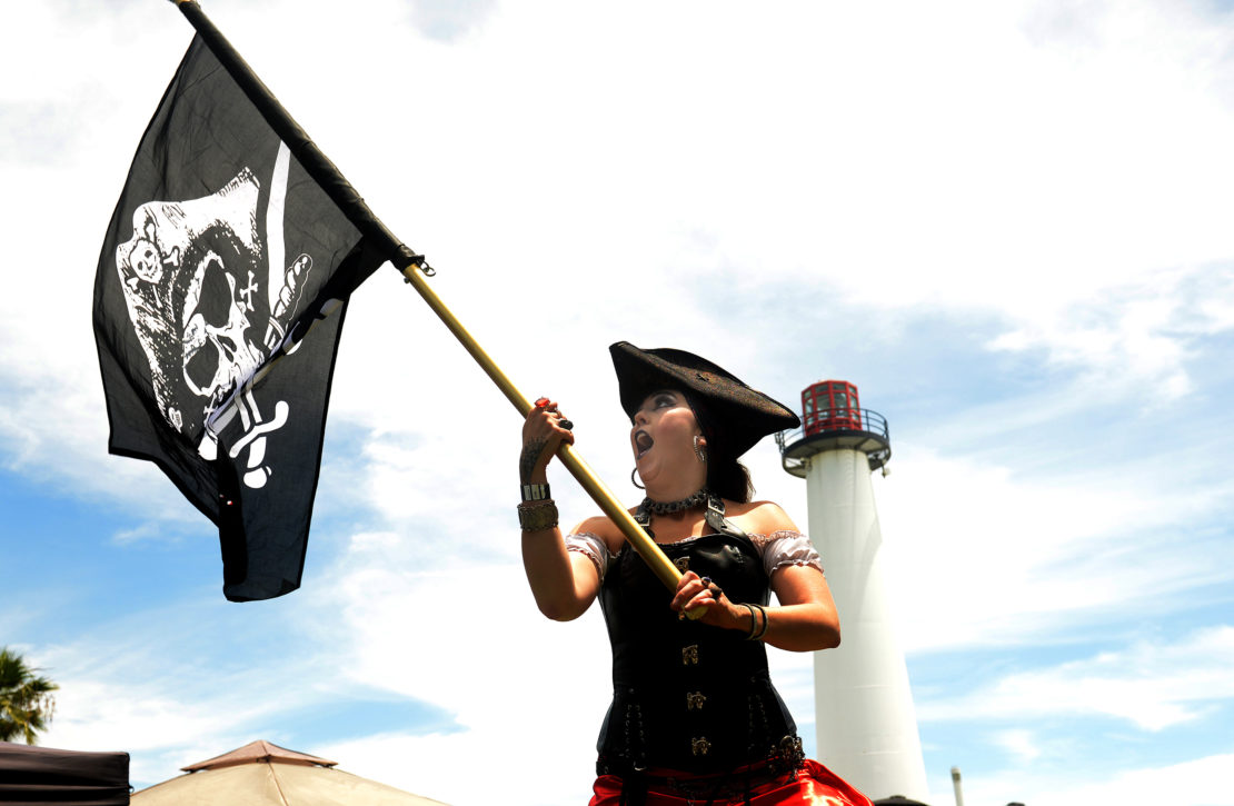 IN PICTURES: Pirates plunder Shoreline Park, subject