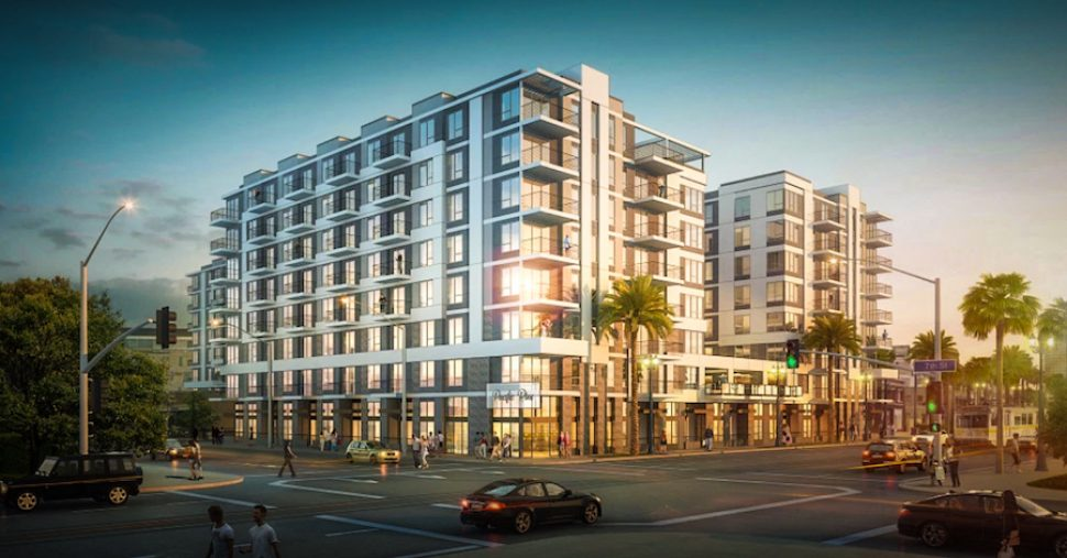 A rendering of the residential development at Pacific and Seventh in Downtown. Courtesy of Holland Partner Group.