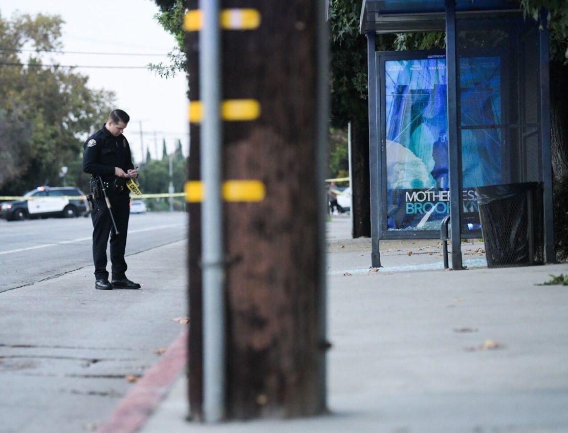 The shooting happened on Orange Avenue near San Antonia Drive. Photo by Thomas R. Cordova.
