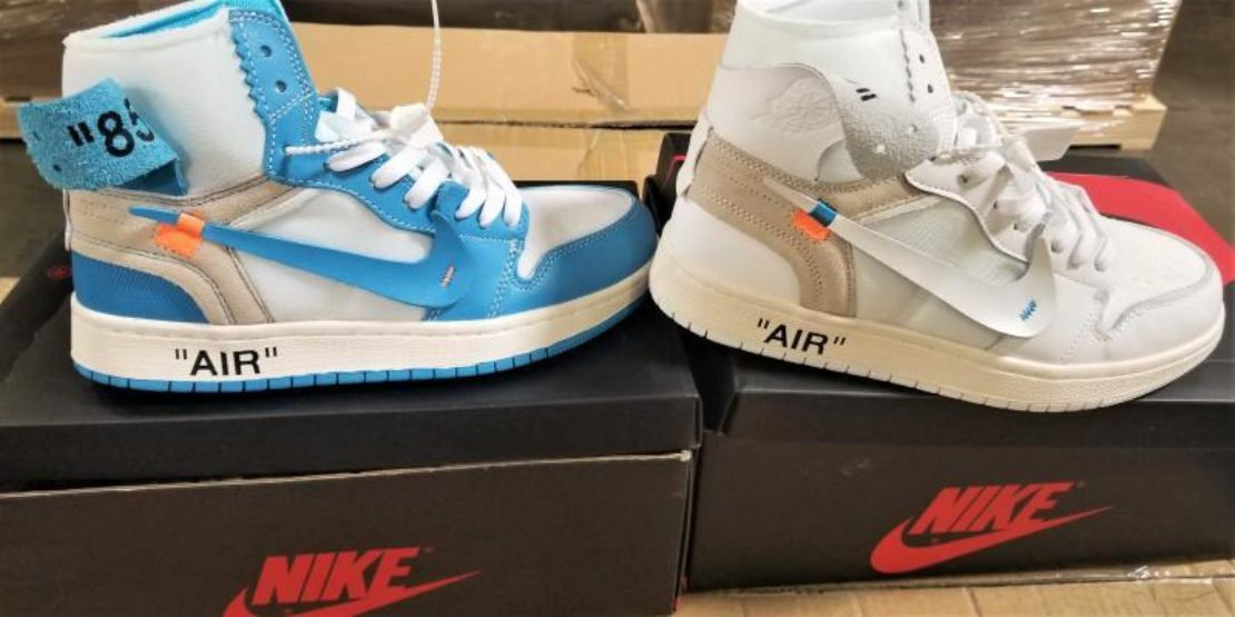 Authorities said there were 14,806 pairs of the counterfeit Nike shoes. Photo courtesy CBP.