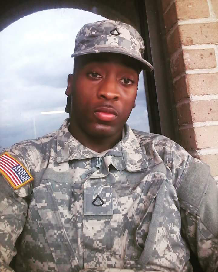 Amad Redding in his national guard uniform. Photo taken from Redding's Facebook.