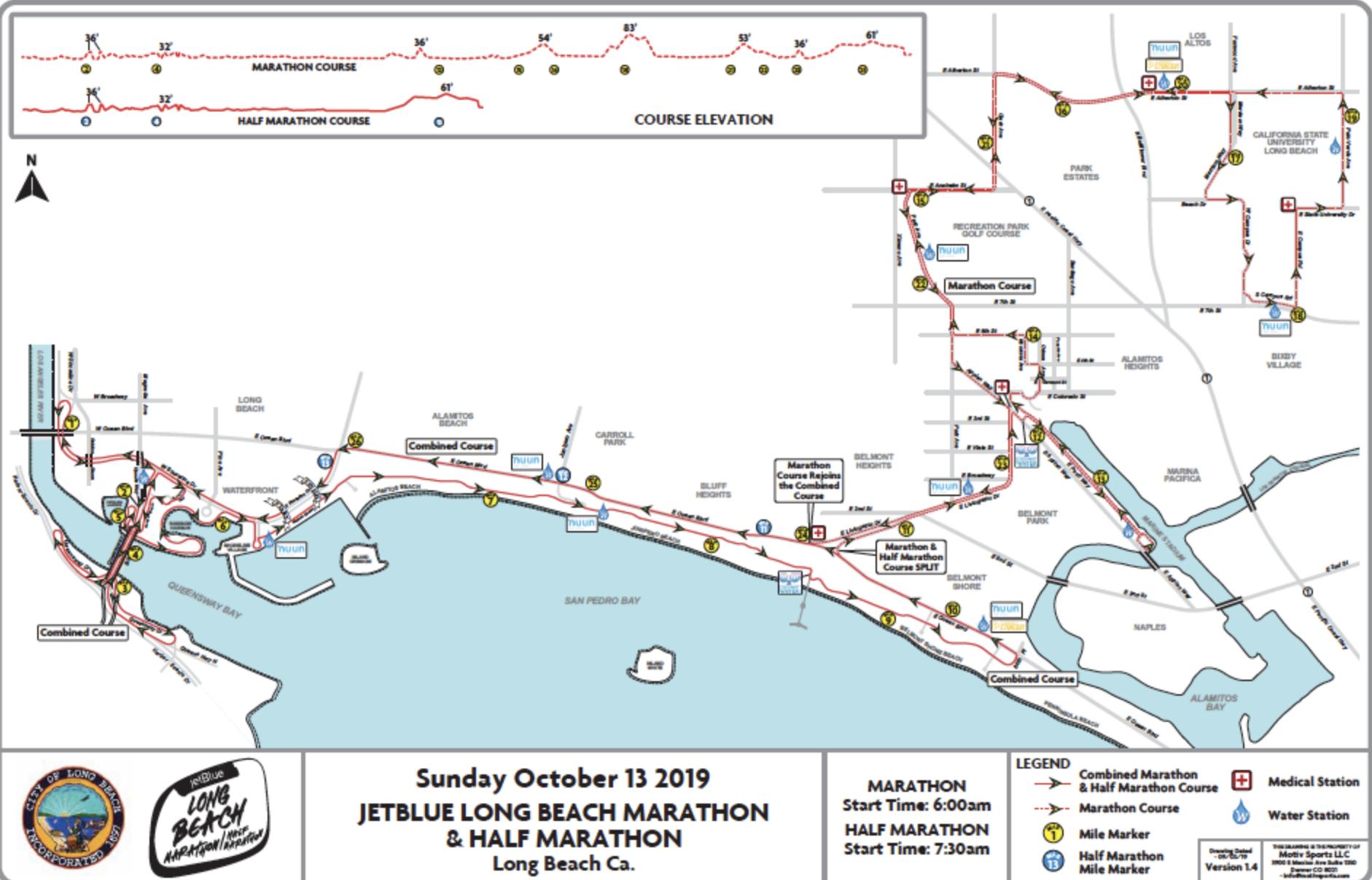 Long Beach Marathon road closures • Long Beach Post News