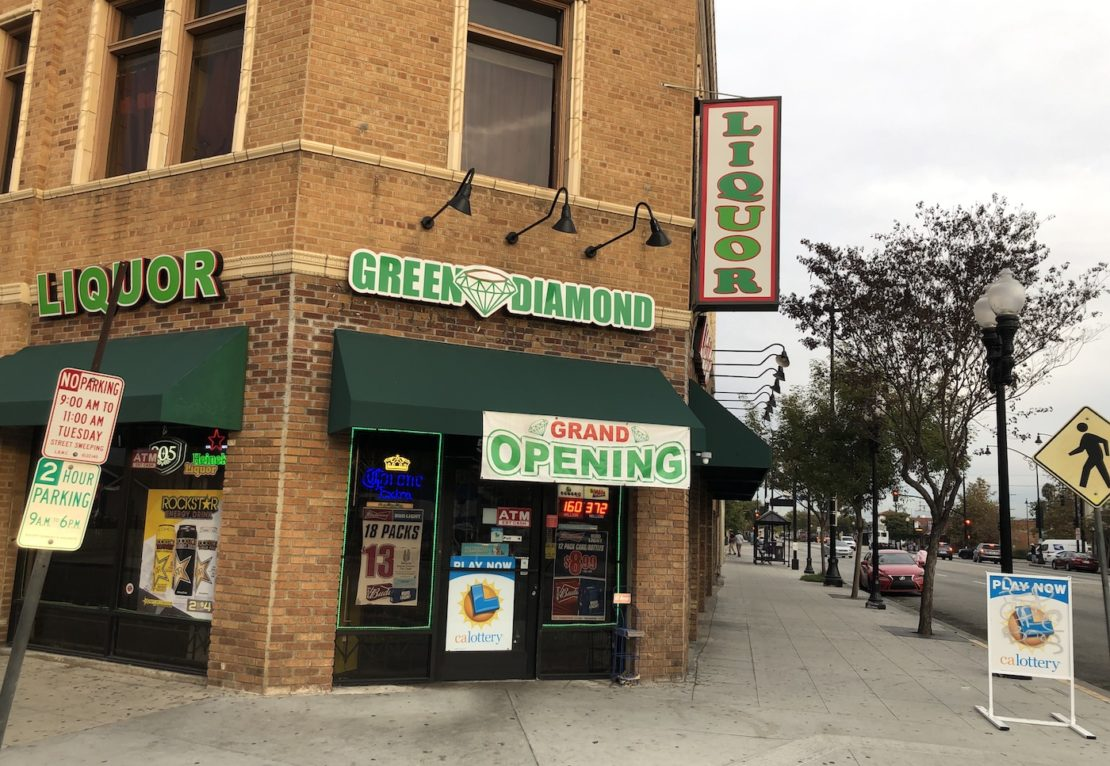 Green Diamond Liquor at 5351 Long Beach Boulevard in Long Beach. Photo by Jeremiah Dobruck.