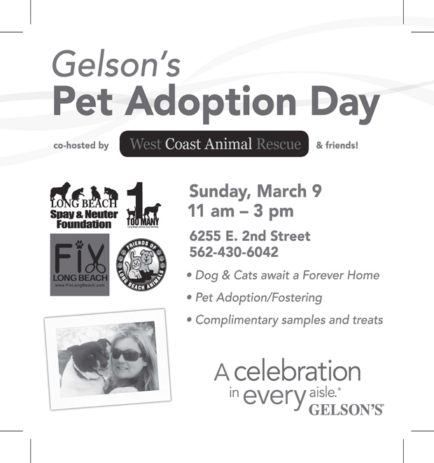 Gelsons Pet Ad-BW