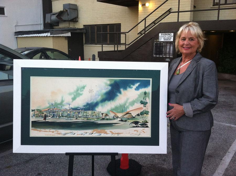 Nina DeRosa and drawing