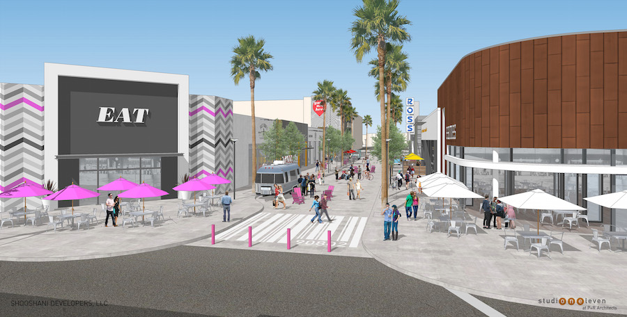 City Place Repositioning - Promenade View Looking North at Third Street