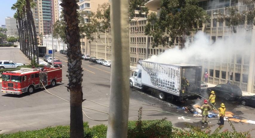 fire moving van
