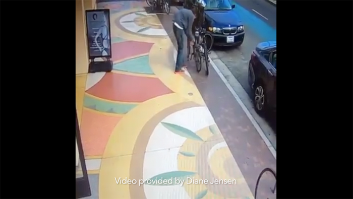 video bike theft