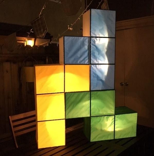 cooper blocks with light