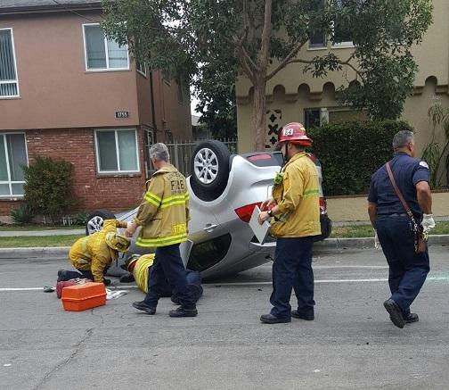 vehicle flip over
