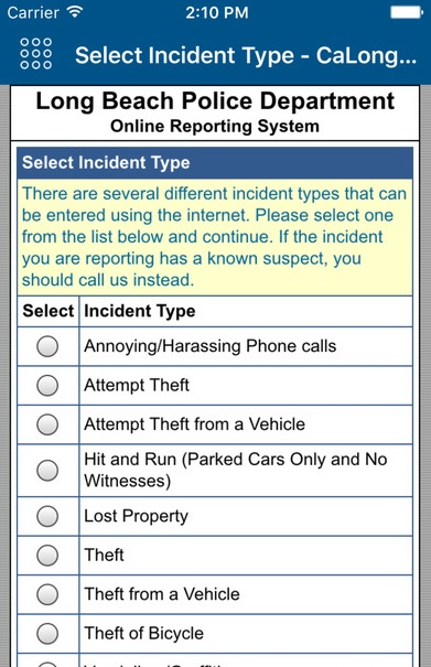 City of Long Beach Introduces Coplogic, Where Users Can Now