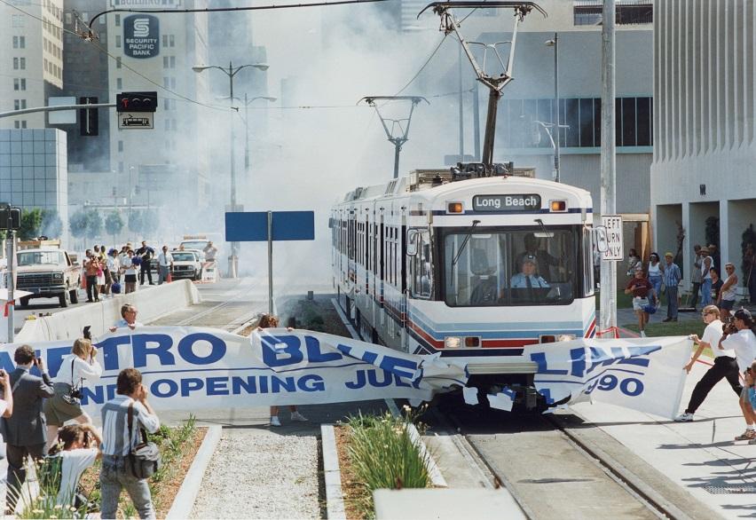 old blue line car