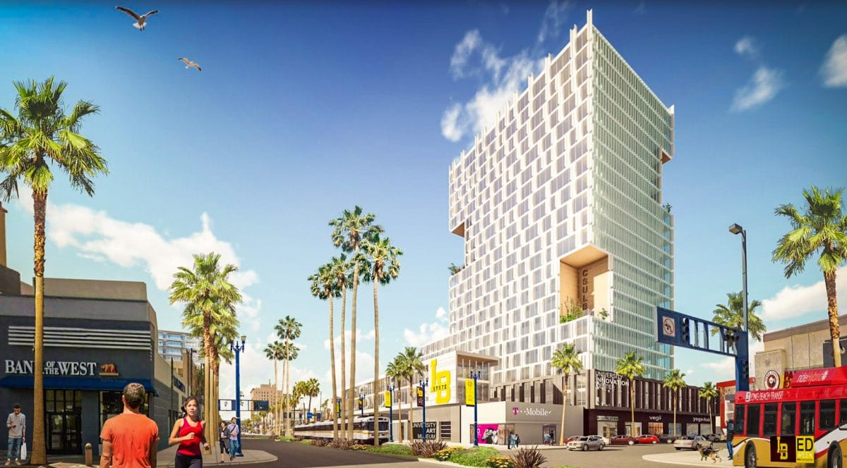 Dtlb highrise in former city place development set to be future home dtlb highrise in former city place development set to be future home of csulb dorms classrooms reheart Choice Image
