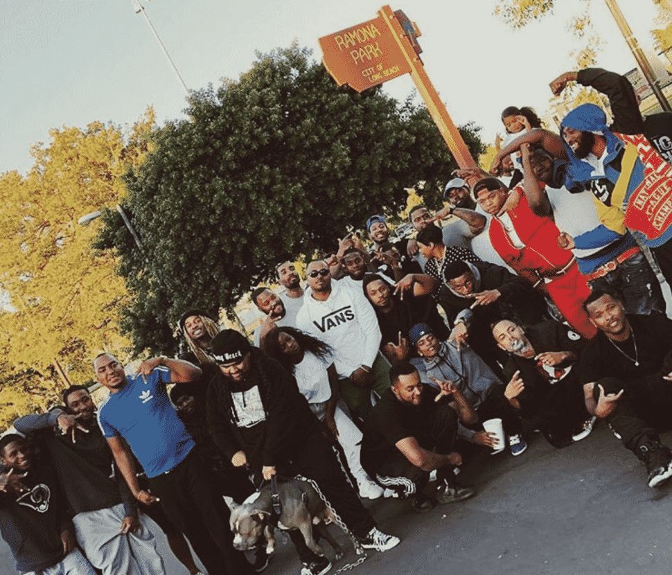 "Ramona Park residents gathered for the video shoot of Vince Staples ""Fun!"" this past October. Courtesy of @waxxtho."