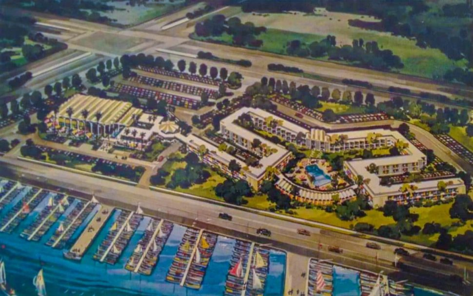 A final rendering of the SeaPort Marina Hotel, initially called The Edgewater Inn.