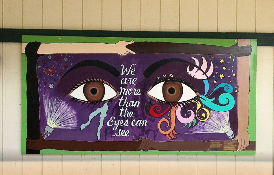 PAAL High School Student Painted Mural