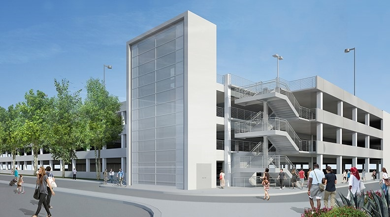Rendering of Parking Structure A Improvements