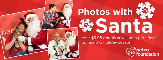 Photos with Santa at Petco