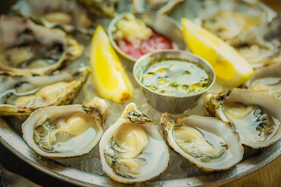 Big Catch's plate of oysters. Photo by Brian Addison.