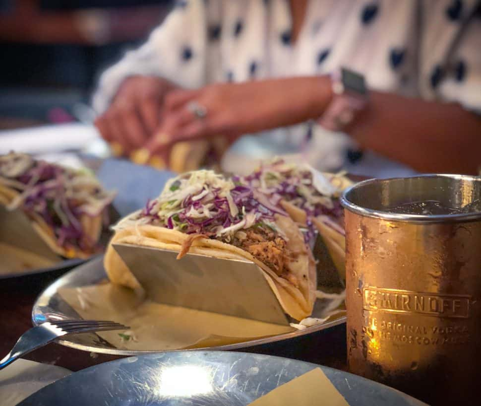 The Harbor's pulled pork tacos. Photo by Brian Addison.