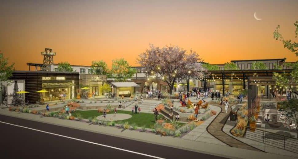 Rendering of Heritage Square in Signal Hill. Courtesy of KTYG.