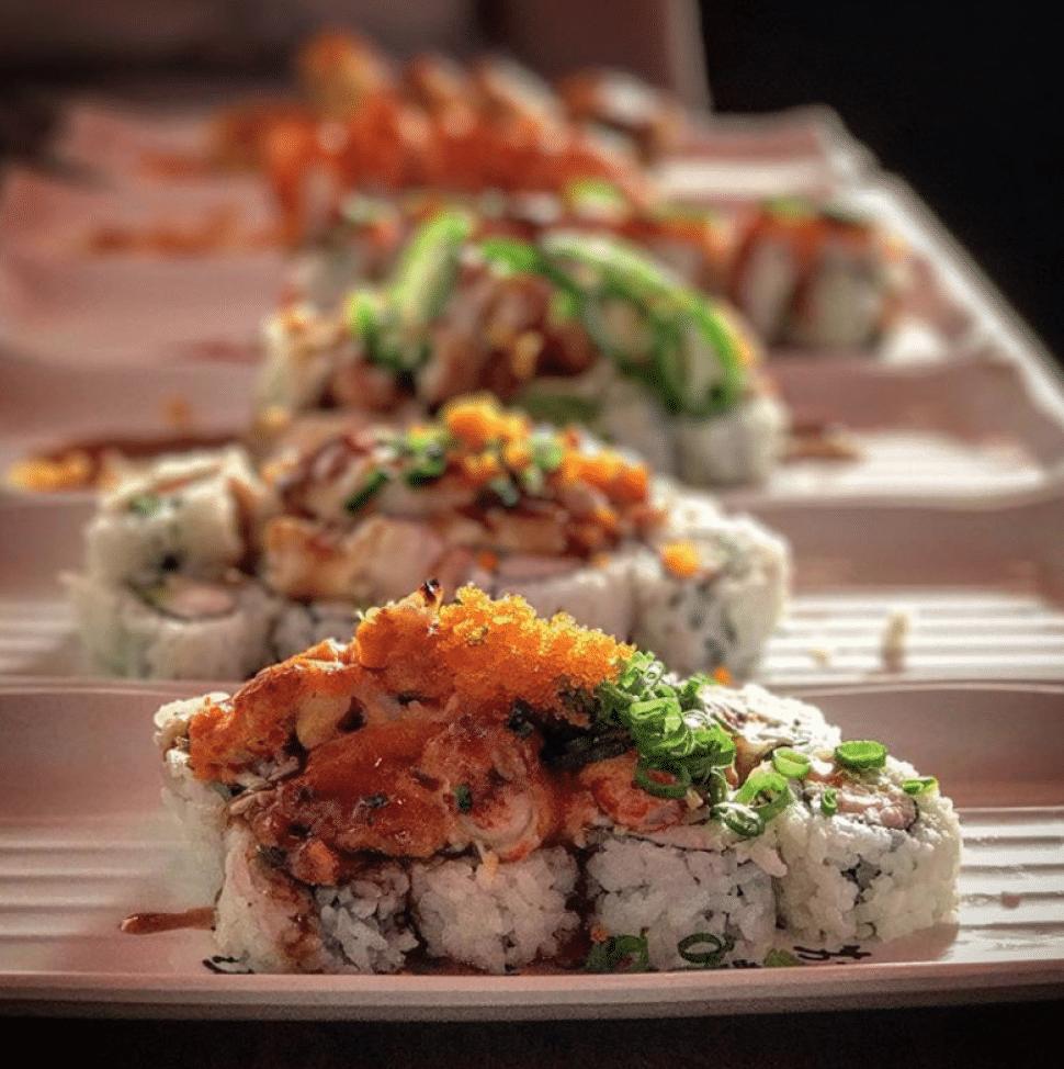 Maru Maki's array of sushi rolls. Photo by Brian Addison.