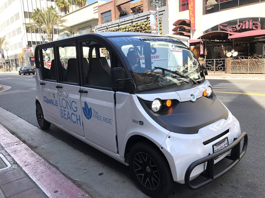 Long Beach Launches Free Shuttle Service That Uses Gas Electric Vehicles