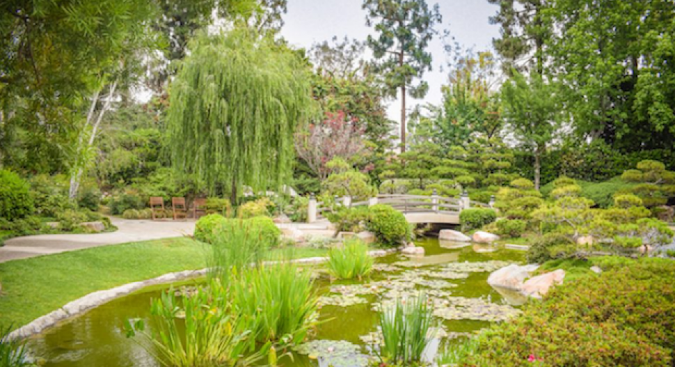 The Earl Miller Japanese Garden is hidden inside Cal State Long Beach. Photo by Brian Addison.