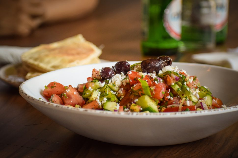 Downtown Long Beach's Ammatolí offers Middle Eastern food; this is its shepard salad. Photo by Brian Addison.