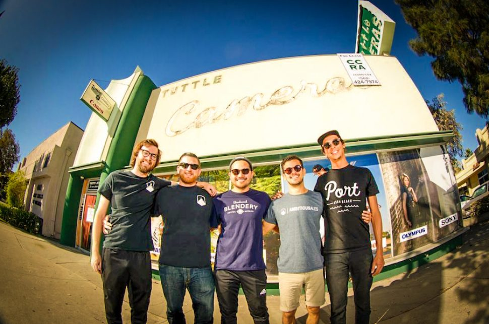 The Ambitious Ales crew when they officially began leasing the space in Bixby Knolls. Courtesy of Garrett Carroll.