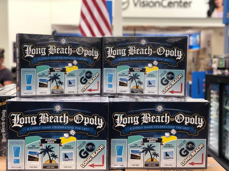 Long-Beach-Opoly, a parodic version of the classic board game Monopoly, is available for purchase. Photo courtesy of Walmart.