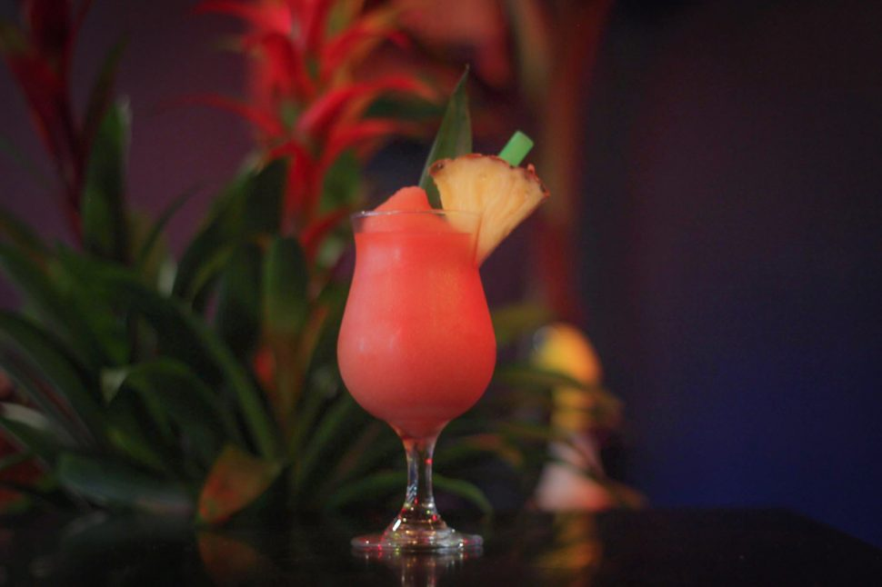 Beer Belly's Tikitiki offers the classic Frozen Bird, a concoction of rum, Campari, pineapple, and watermelon. Photo by Sherwood Souzankari.
