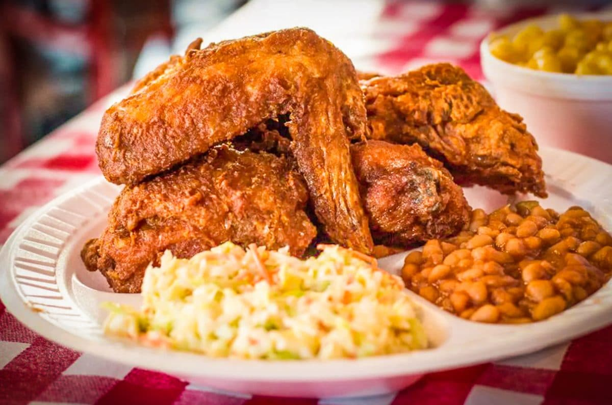Gus's three piece combo is some of the best fried chicken you'll have this side of Memphis. Photo by Brian Addison.