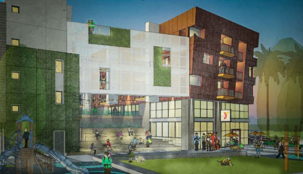Rendering of The Spark affordable housing development in Central Long Beach. Courtesy of byWilliam Hezmalhalch Architects.