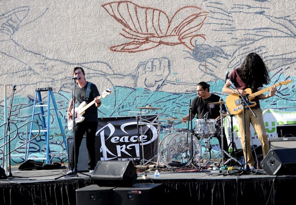 The band Bad Abstract perform during Summer LuvinÕ Fest, at 5301 Long Beach Boulevard in North Long Beach Saturday. The free family friendly event featured multiple bands, as well as vendors, artists and the Long Beach local El Exclusivo food truck on site in Long Beach Saturday, September 1, 2018. Photo by Stephen Carr / For The Long Beach Post