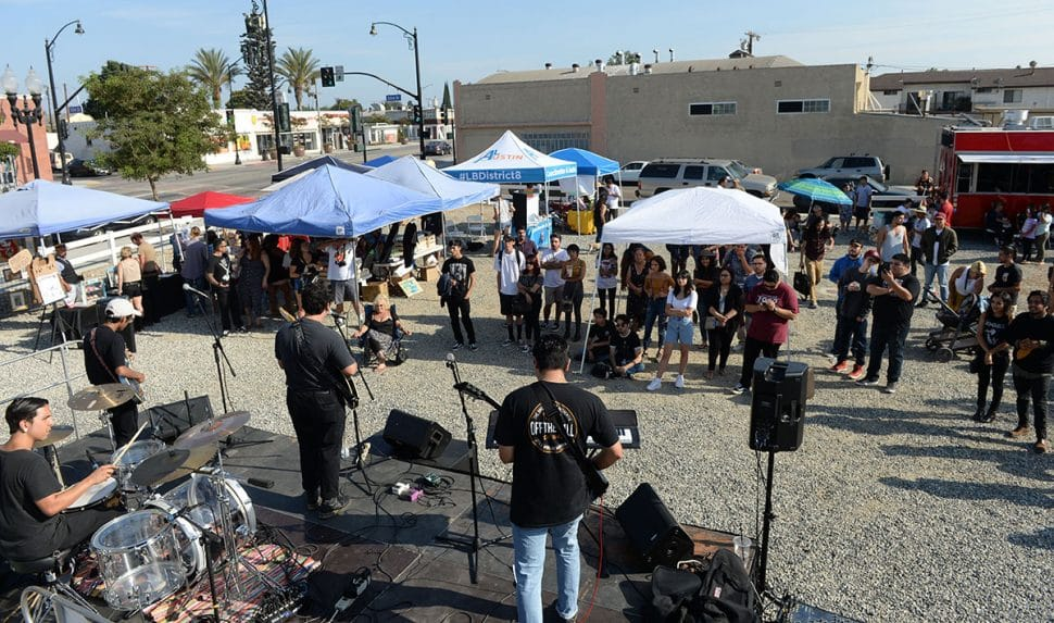 The band Light Paranoia performs during Summer LuvinÕ Fest, at 5301 Long Beach Boulevard in North Long Beach Saturday. The free family friendly event featured multiple bands, as well as vendors, artists and the Long Beach local El Exclusivo food truck on site in Long Beach Saturday, September 1, 2018.<br /> Photo by Stephen Carr / For The Long Beach Post