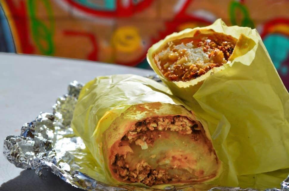 Jerry's chorizo breakfast burrito. Photo by Brian Addison.