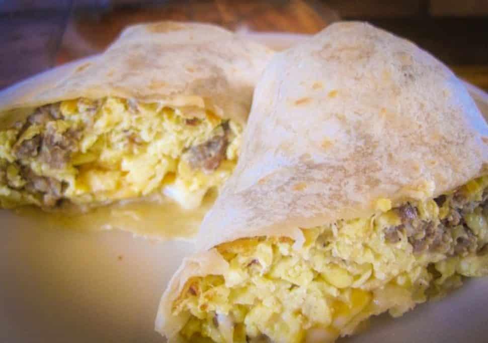 Hole Mole's breakfast burrito. Photo by Brian Addison.
