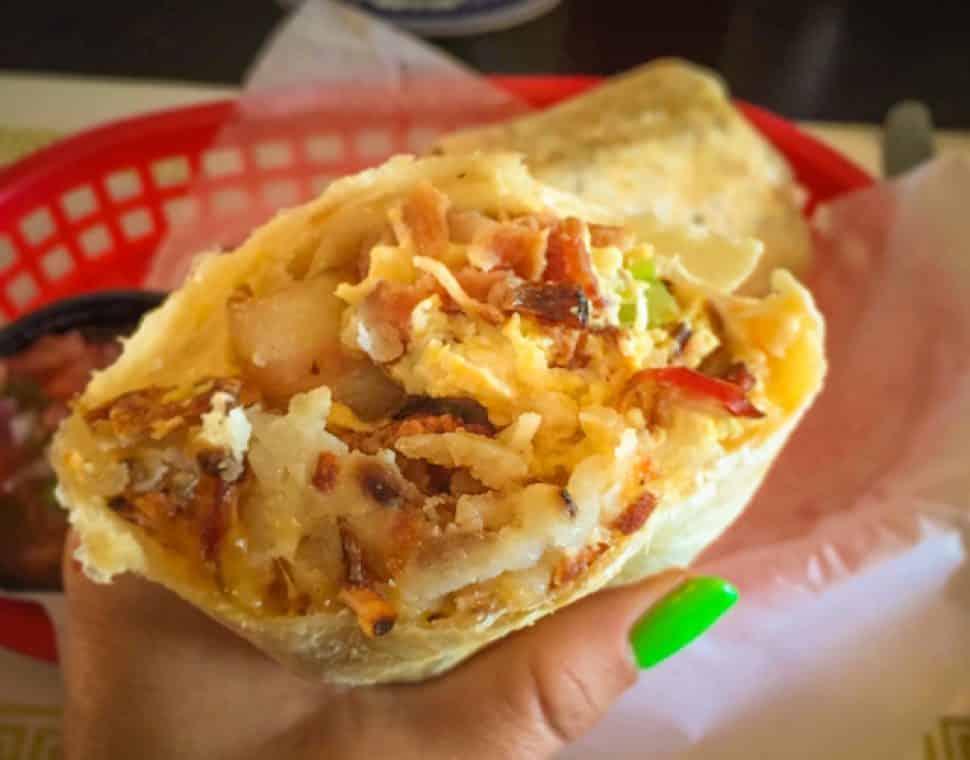 The Pike's breakfast burrito. Photo by Mimi Masher.