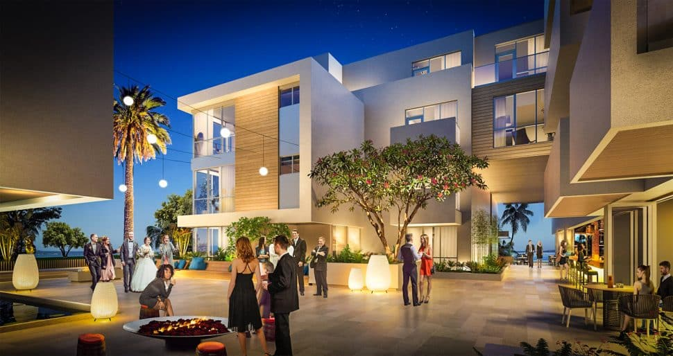 A rendering of the Silversands project at Ocean and Cherry Avenue in Alamitos Beach. Courtesy of Studio One Eleven.