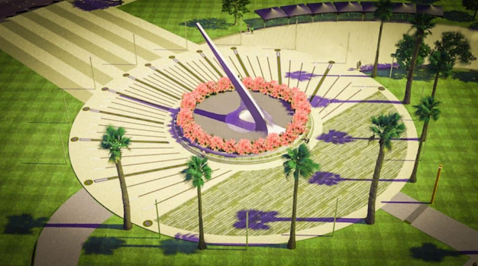 A rendering of the giant sundial feature in the Avalon Promenade & Gateway project. Courtesy of the Port of Los Angeles.