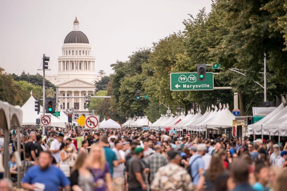 The California Craft Beer Summit's beer festival as it was in Sacramento in 2017. Courtesy of the California Craft Brewers Association.