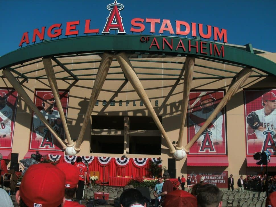 Angel Stadium in Anaheim. Could've been in Long Beach, some dream of it coming soon. Courtesy