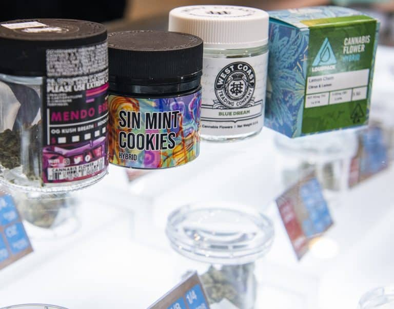 Prepackaged product at the newest marijuana store, MMD in Long Beach November 7, 2018.  Photo by Thomas R Cordova