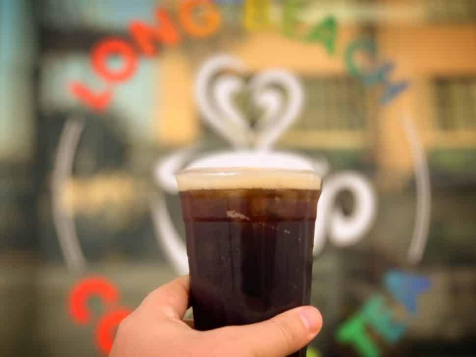 Long Beach Coffee & Tea's cold brew on nitro. Photo by Brian Addison.