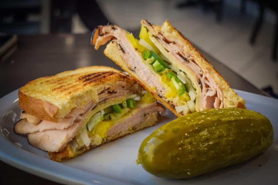 Long Beach Coffee & Tea's Prilosec sandwich. Photo by Brian Addison.