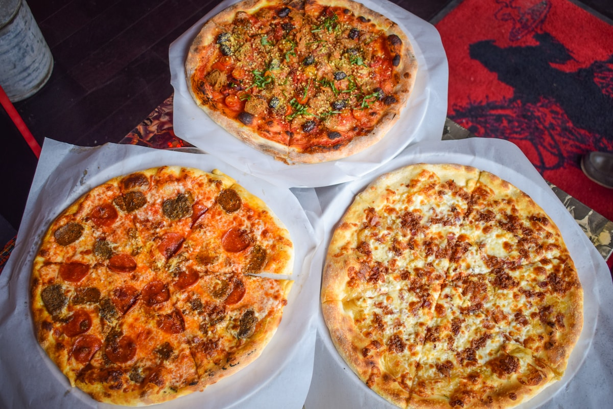 41c23dd2355 An assortment of pizzas from the 4th Horseman in Downtown Long Beach: The  Frailty (