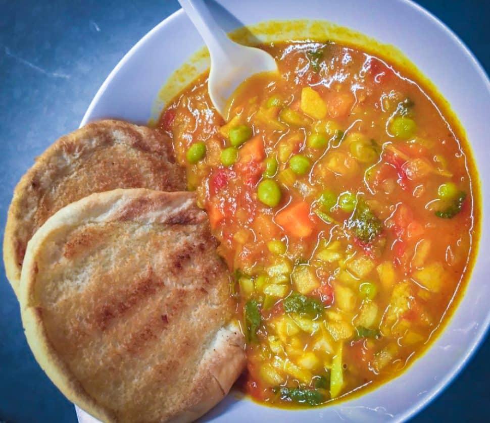 Appu Cafe's pav bahji dish. Courtesy of Yelp!/Kersti P.
