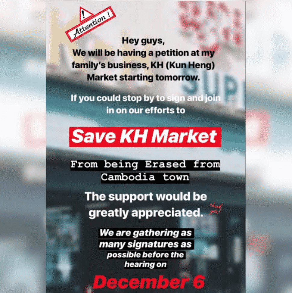 KH Market has reached out to its community via social media in the hopes of attracting supporters at the Dec. 6, 2018 Planning Commission Meeting.